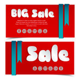 Sale cards in paper style. Stock Images