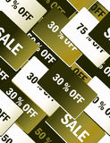 Sale cards - seamless pattern Royalty Free Stock Photography
