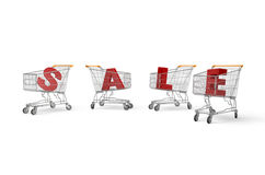 Sale Cart Stock Photography