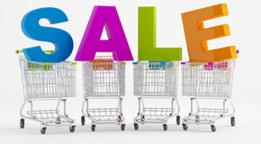 Sale and cart Royalty Free Stock Image