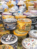 Sale of ceramic of Morocco. Stock Images