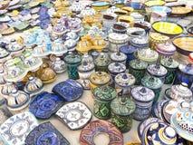 Sale of ceramic of Morocco. Stock Image