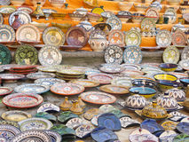 Sale of ceramic of Morocco. Royalty Free Stock Images