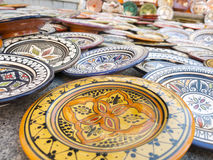 Sale of ceramic of Morocco. Royalty Free Stock Image