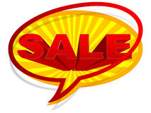 Sale chat icon Stock Photography