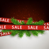 Sale christmas background. Royalty Free Stock Photos