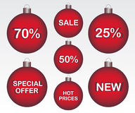Sale Christmas ball Royalty Free Stock Photo