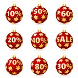 Sale christmas balls Royalty Free Stock Image