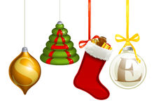 Sale Christmas decorations Royalty Free Stock Image