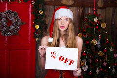 Sale, christmas, holidays and people concept - Stock Images