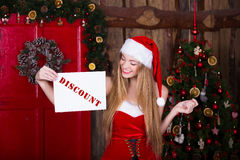 Sale, christmas, holidays and people concept - Royalty Free Stock Photos