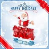 Sale  christmas santa claus Royalty Free Stock Photos