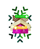Sale Christmas tags and stickers Royalty Free Stock Photo