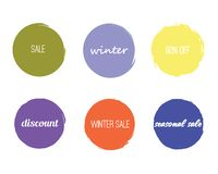 Sale Circles Template vector illustration