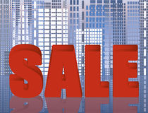 Sale city abstract card Royalty Free Stock Image