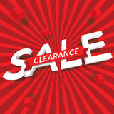 Sale clearance. With background vector Royalty Free Stock Photography