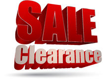 Sale clearance 3d style Stock Photos