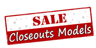 Sale closeouts models Royalty Free Stock Images