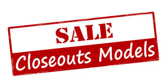 Sale closeouts models Stock Photo