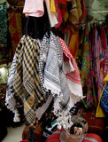 Sale of clothes in the ware market in Jerusalem, Israel Royalty Free Stock Photo