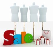 Sale for a clothing Stock Photo