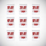 Sale clothing labels set of discounts Royalty Free Stock Photos