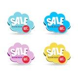 Sale cloud discount promotion 60 business. Design promotion Stock Image