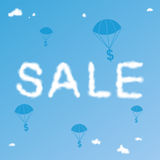Sale Cloudy Background Royalty Free Stock Image