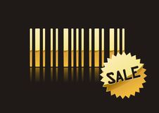 SALE code bar. A fully scalable vector illustration of Sale with barcode royalty free illustration