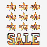 Sale collection. Sale elements collection with stars Royalty Free Stock Photography