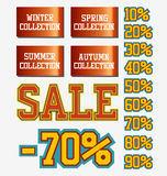 Sale collection. Sale signs bright set collection Royalty Free Stock Photography