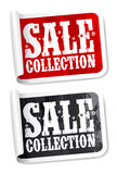 Sale collection stickers Royalty Free Stock Photography