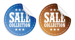 Sale collection stickers Royalty Free Stock Image