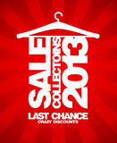 Sale collections 2013 design. Royalty Free Stock Images
