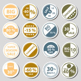 Sale color circle stickers set for discount shop eps10. Sale color circle stickers set for discount shop Royalty Free Stock Photos