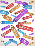 Sale color lables Royalty Free Stock Photography