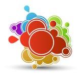 Sale color paper bubble Royalty Free Stock Photo