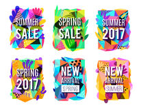 Sale Colorful Abstract Background  Banners Set Royalty Free Stock Image
