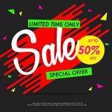SALE colorful banners or background design. Template vector graphic Royalty Free Stock Photography