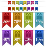 Sale Colorful banners / tabs. Sale Colorful big and small banners / tabs Vector Illustration