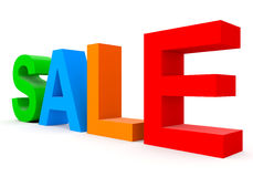 SALE - colorful 3d letters isolated on white Royalty Free Stock Photos