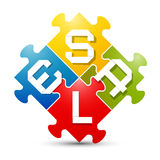 Sale Colorful Puzzle Vector Stock Image