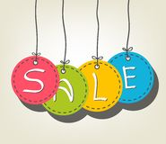 Sale Colorful tags Stock Photography