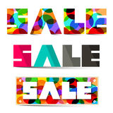 Sale Colorful Vector Titles Set Stock Photography
