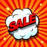 Sale. Comic book explosion Stock Photo