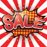 Sale. Comic Speech Bubble. Vector Stock Photo