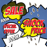 Sale comic Stock Photo