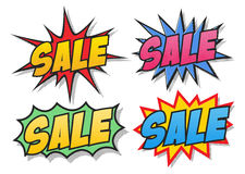 Sale comics bubbles Royalty Free Stock Image