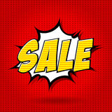 Sale comics style alphabet. Royalty Free Stock Image