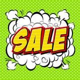 Sale comics style alphabet. Stock Image